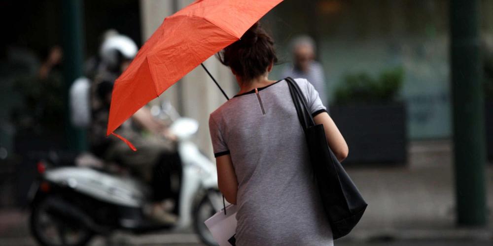 Πρόγνωση καιρού: Ερχονται βροχές, καταιγίδες και χαλάζι