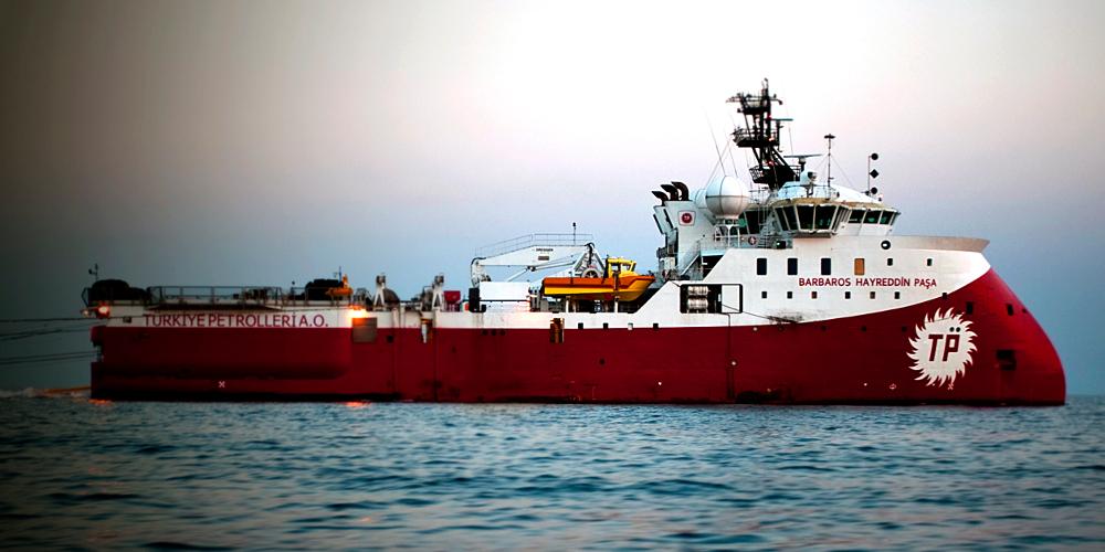 Εντός της κυπριακής ΑΟΖ το Barbaros με συνοδεία τεσσάρων πολεμικών πλοίων